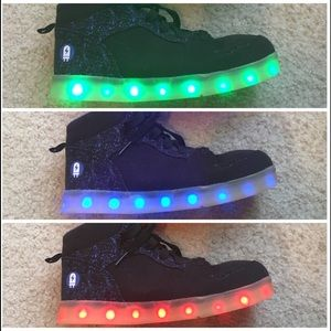 Other - 1 Pair of Blue light up shoes